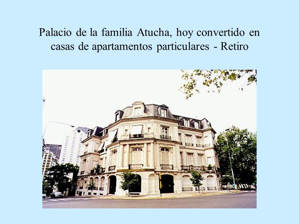 Palacio de la familia Atucha, hoy convertido en casas de apartamentos particulares - Retiro