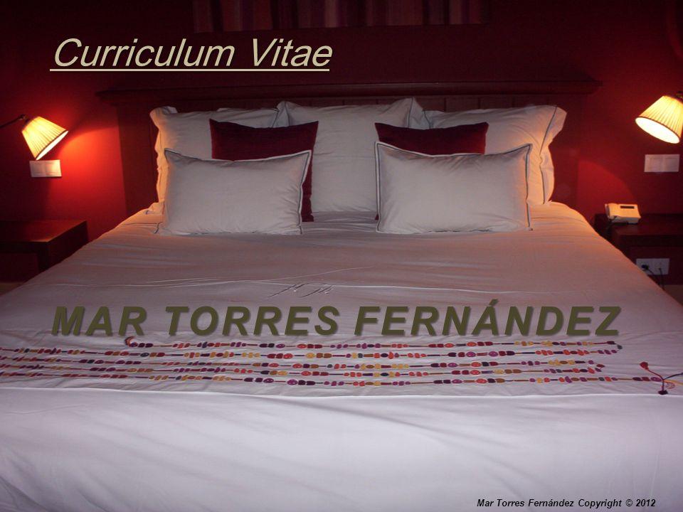 MAR TORRES FERNÁNDEZ Curriculum Vitae Mar Torres Fernández Copyright © 2012