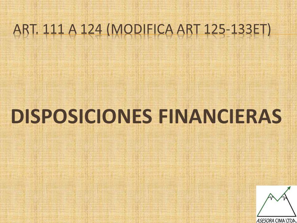 DISPOSICIONES FINANCIERAS