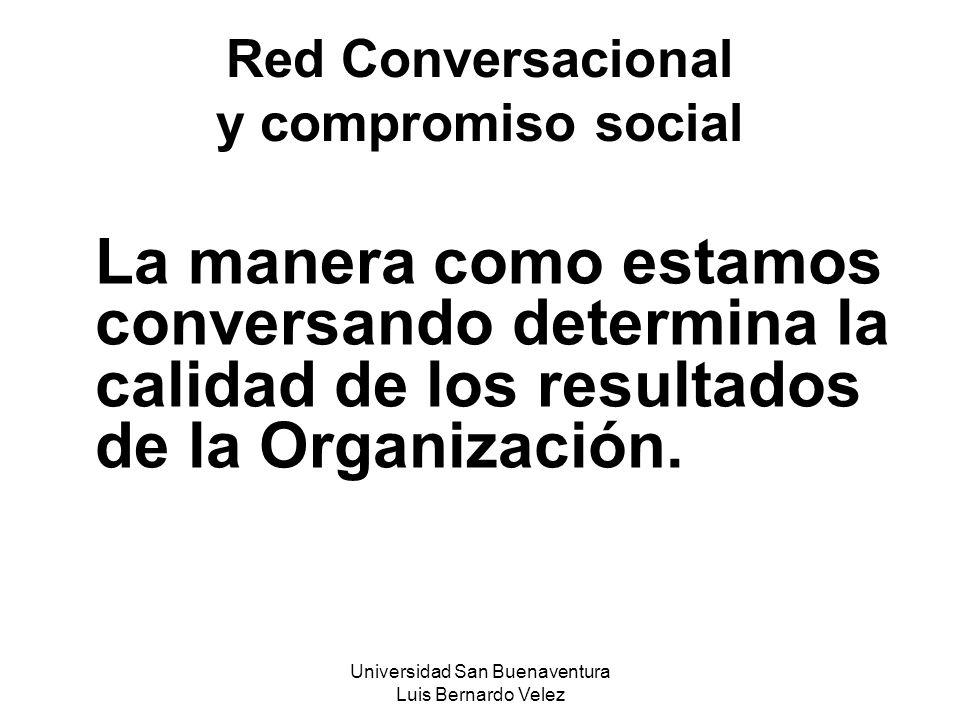 Universidad San Buenaventura Luis Bernardo Velez Red Conversacional y compromiso social La manera como estamos conversando determina la calidad de los