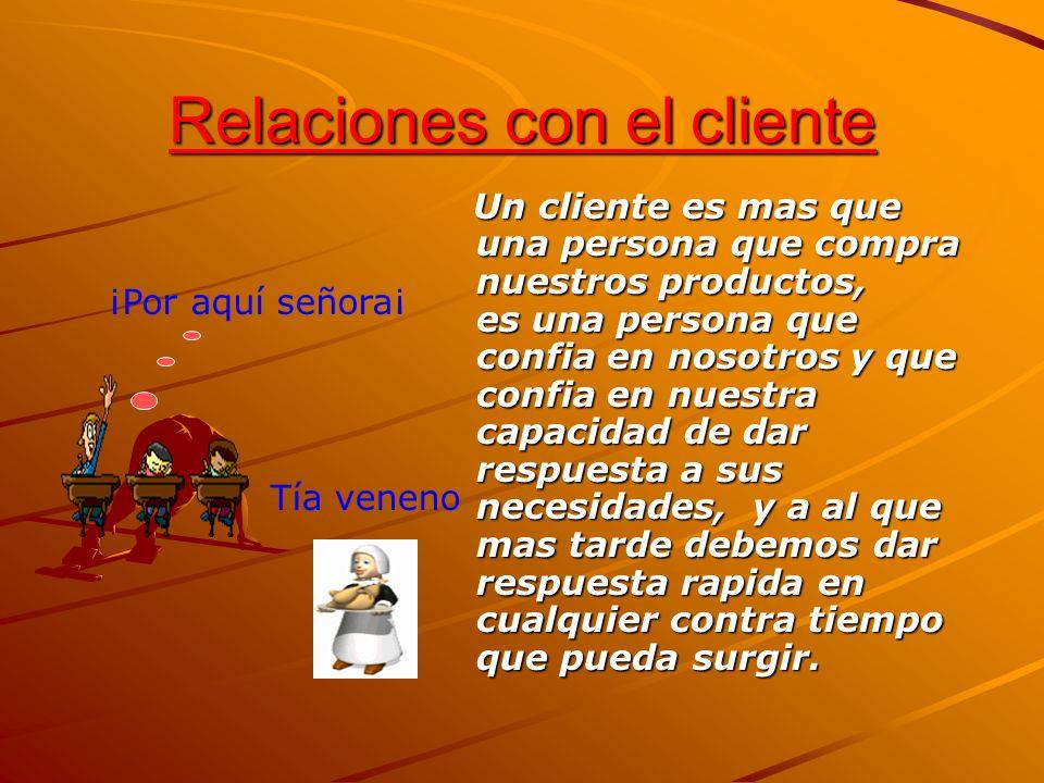 Relaciones con el cliente Un cliente es mas que una persona que compra nuestros productos, es una persona que confia en nosotros y que confia en nuest