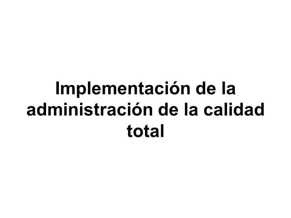 Implementación de la administración de la calidad total