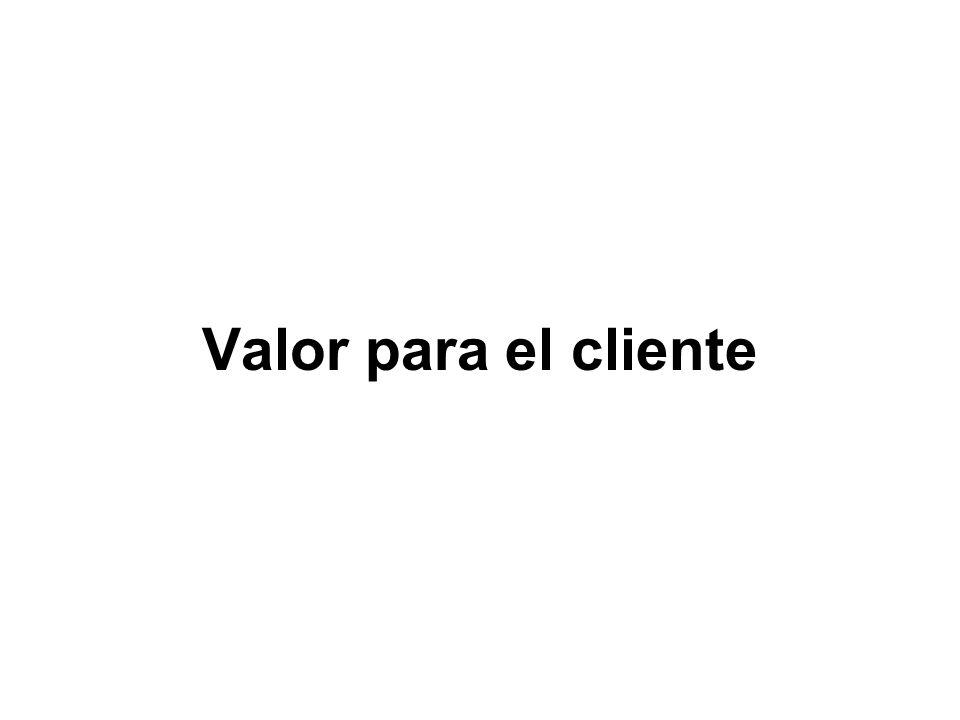 Valor para el cliente
