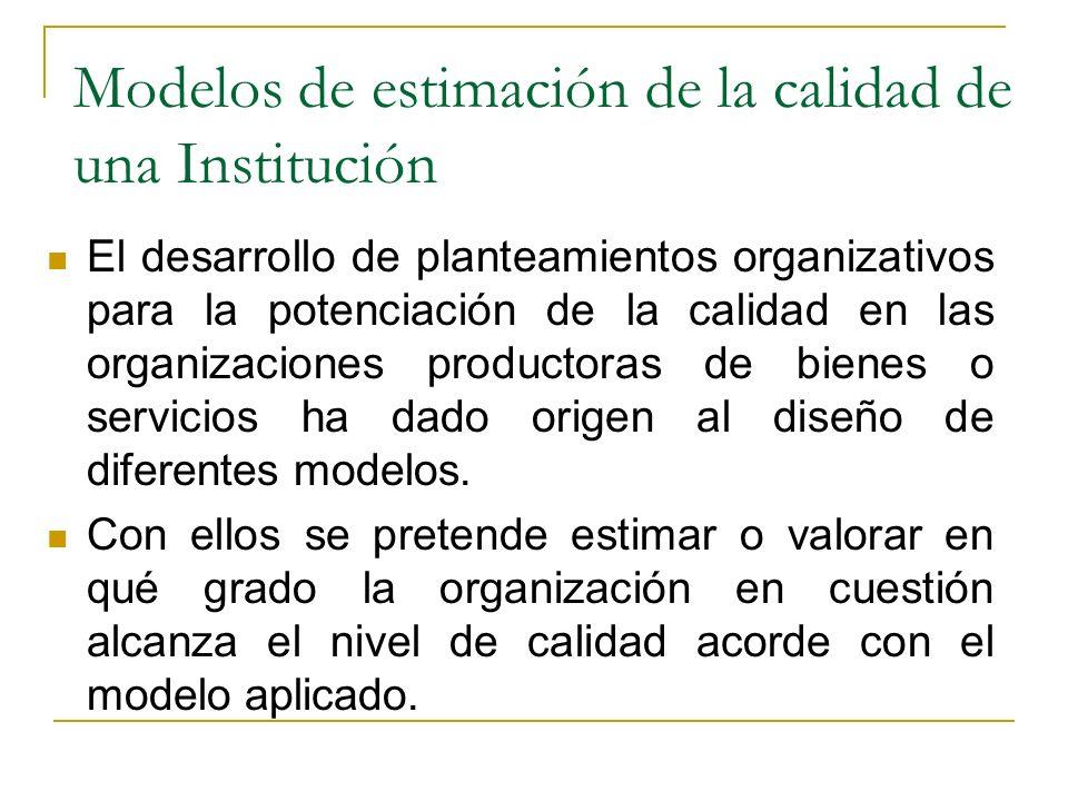Evolución del término de la calidad en las instituciones Primera fase: Calidad del servicio Segunda fase: Participación de los trabajadores Tercera fa