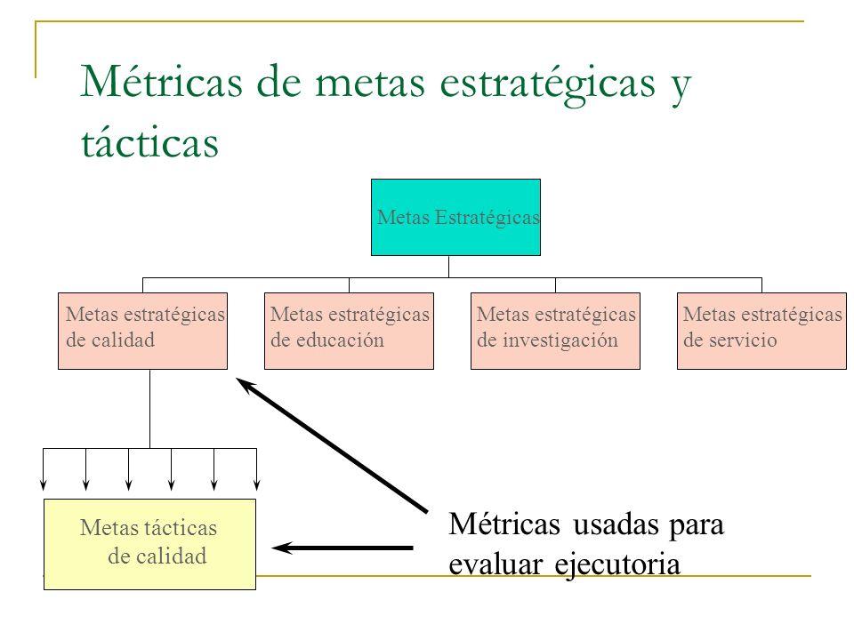 Desarrollo del sistema de medición El significado de la métrica debe ser estandarizado. Los datos deben ser relevantes al proceso de toma de decisione