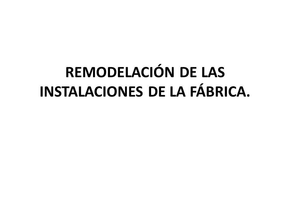 REMODELACIÓN DE LAS INSTALACIONES DE LA FÁBRICA.