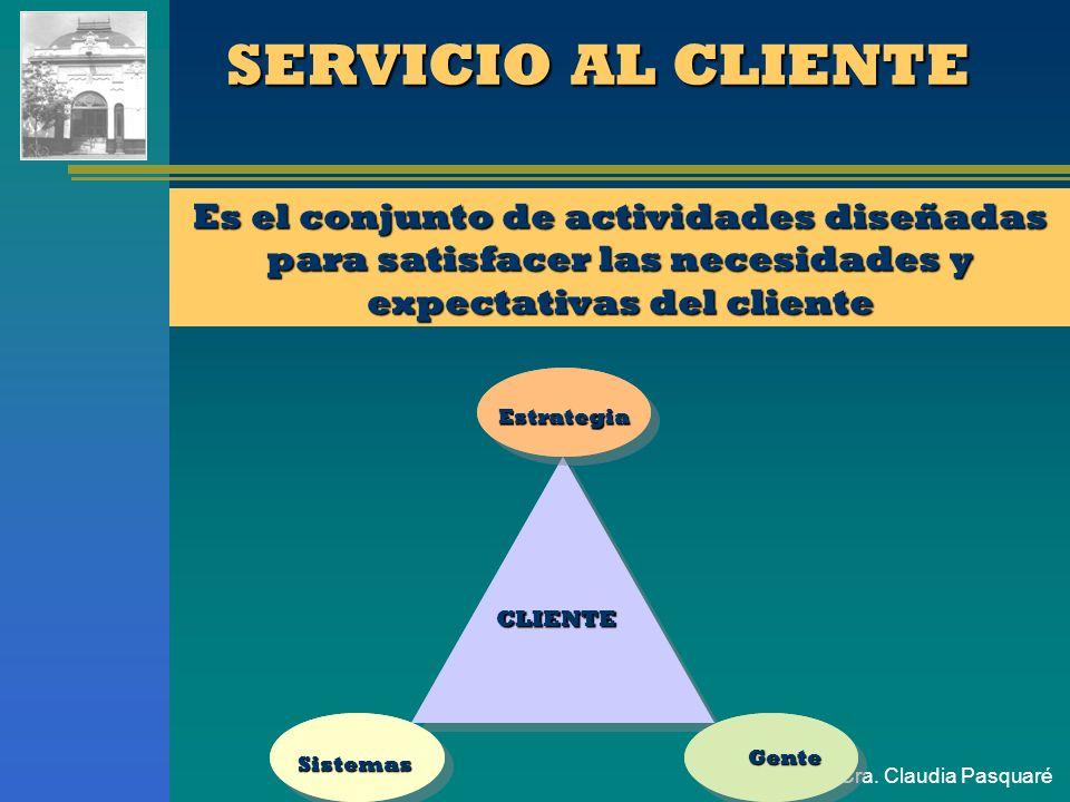 Cra. Claudia Pasquaré CARACTERISTICAS DE LOS SERVICIOS No son materiales, no se pueden inspeccionar previamente ni almacenar. No son materiales, no se