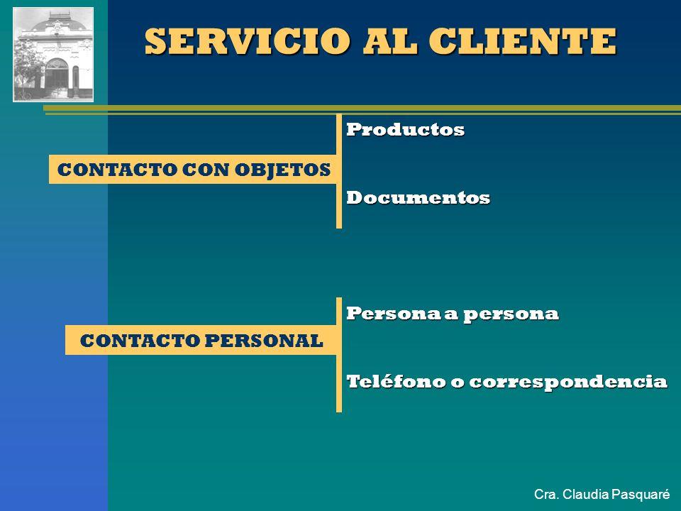 Cra. Claudia Pasquaré SERVICIO AL CLIENTE Es el conjunto de actividades diseñadas para satisfacer las necesidades y expectativas del cliente Estrategi