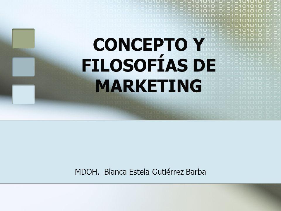 El concepto de marketing, dentro del área de los negocios, en los años 50s, se presentó a través de diversos enfoques orientados hacia la rentabilidad, referidos como producción, producto y venta.