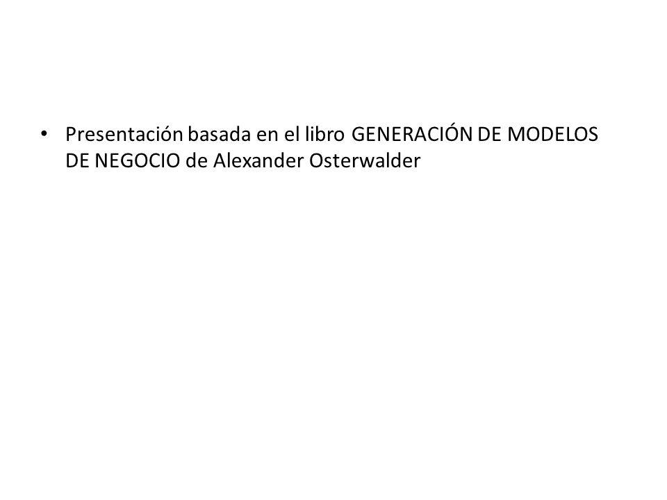 Presentación basada en el libro GENERACIÓN DE MODELOS DE NEGOCIO de Alexander Osterwalder