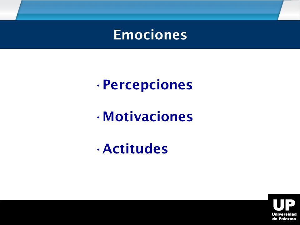 Emociones Percepciones Motivaciones Actitudes