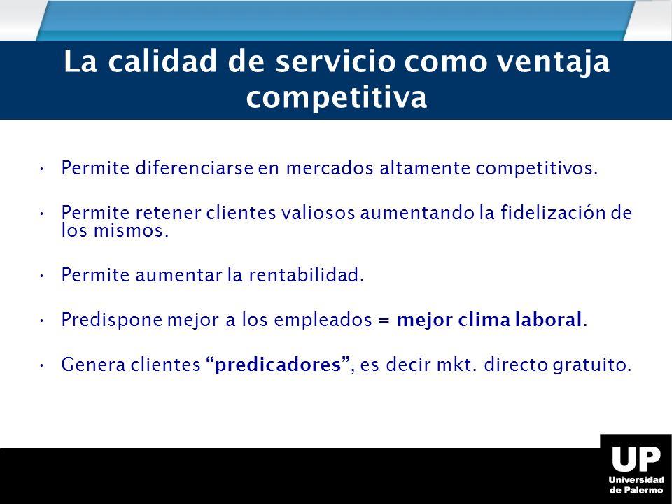 Permite diferenciarse en mercados altamente competitivos.