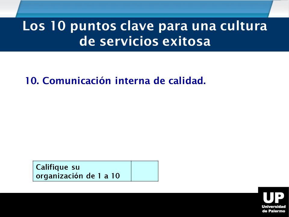 10.Comunicación interna de calidad.
