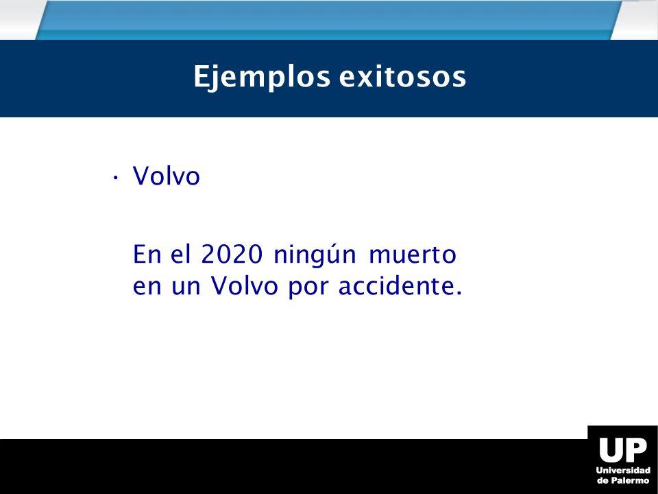 Volvo En el 2020 ningún muerto en un Volvo por accidente. Ejemplos exitosos