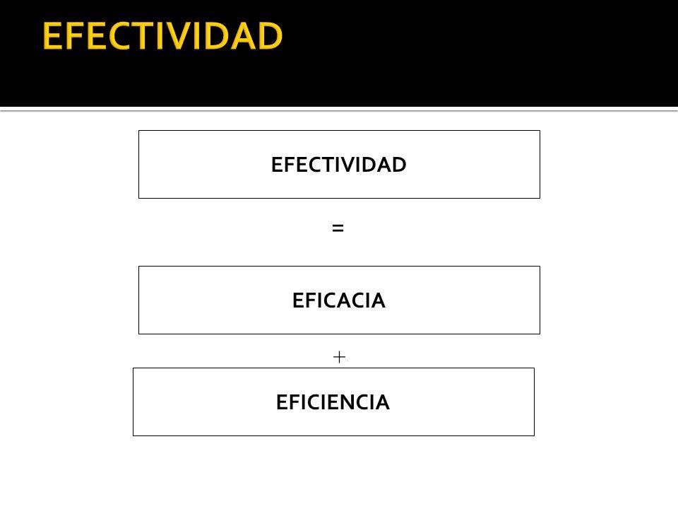 EFECTIVIDAD EFICACIA EFICIENCIA = +