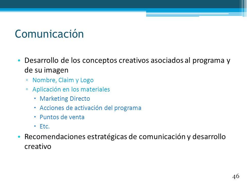 Desarrollo de los conceptos creativos asociados al programa y de su imagen Nombre, Claim y Logo Aplicación en los materiales Marketing Directo Accione