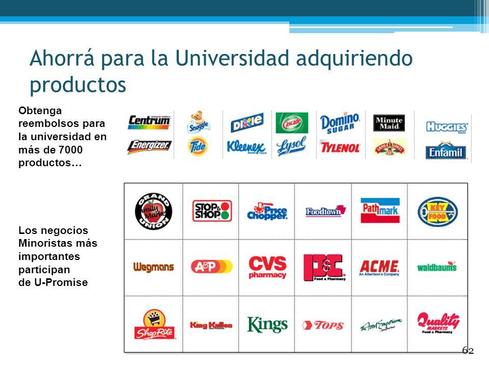 Obtenga reembolsos para la universidad en más de 7000 productos… Ahorrá para la Universidad adquiriendo productos Los negocios Minoristas más importan