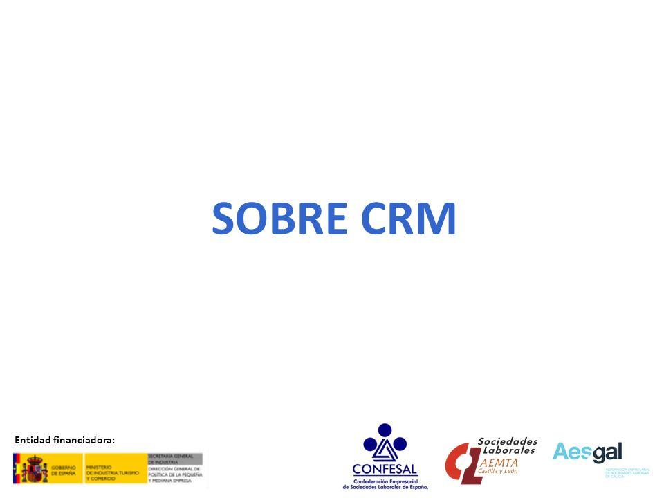 SOBRE SCM Entidad financiadora: