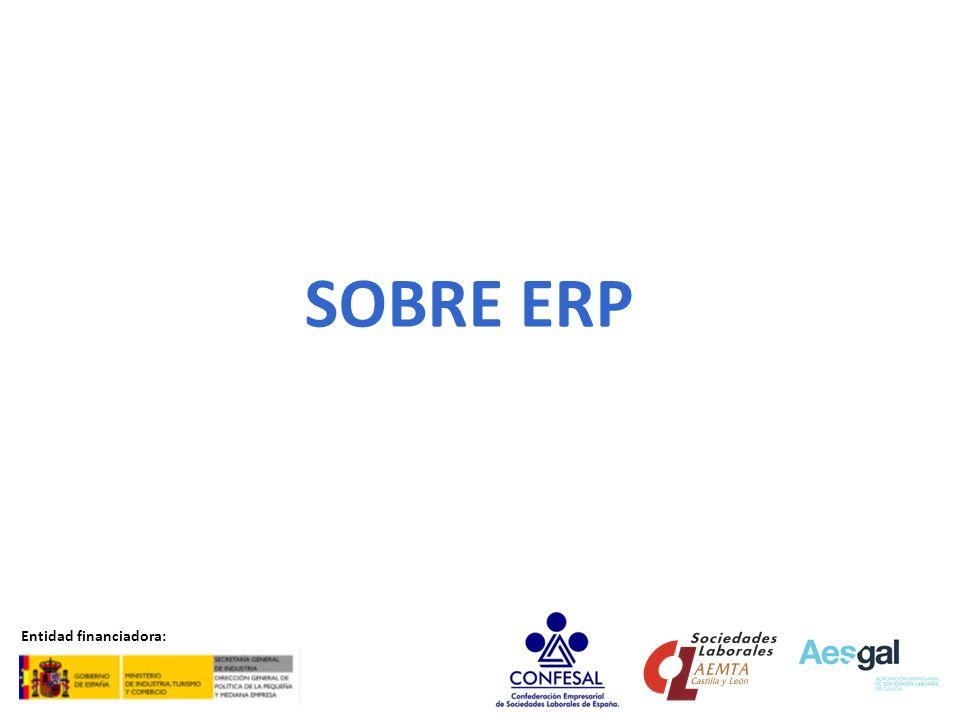 SOBRE ERP Entidad financiadora:
