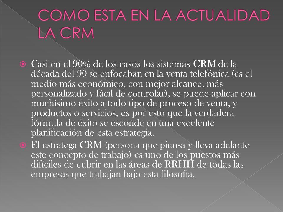 La administración basada en la relación con los clientes.
