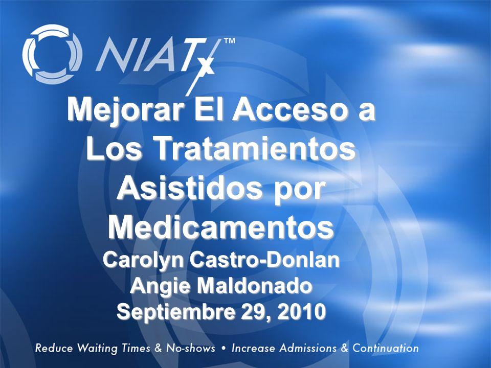 1 Overview Mejorar El Acceso a Los Tratamientos Asistidos por Medicamentos Carolyn Castro-Donlan Angie Maldonado Septiembre 29, 2010