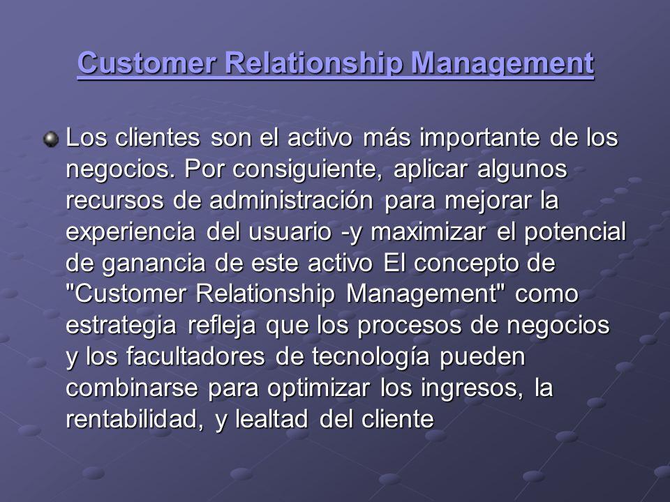 ¿Qué es Customer Relationship Management.¿Qué es Customer Relationship Management.