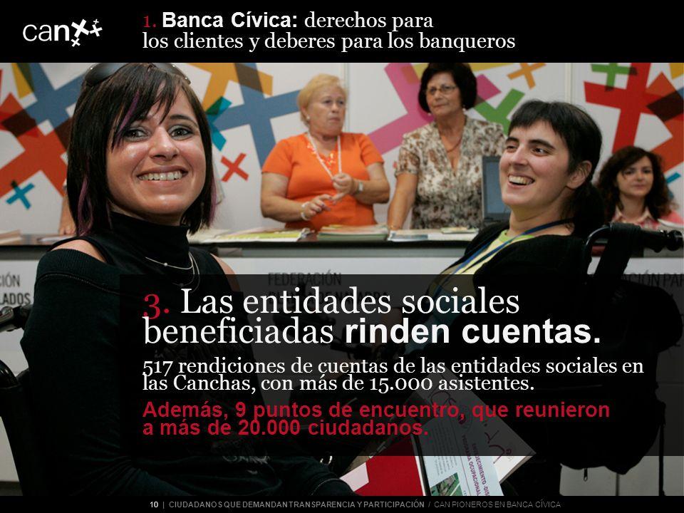 10 | CIUDADANOS QUE DEMANDAN TRANSPARENCIA Y PARTICIPACIÓN / CAN PIONEROS EN BANCA CÍVICA 3.
