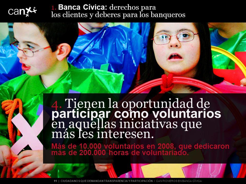 11 | CIUDADANOS QUE DEMANDAN TRANSPARENCIA Y PARTICIPACIÓN / CAN PIONEROS EN BANCA CÍVICA 4.