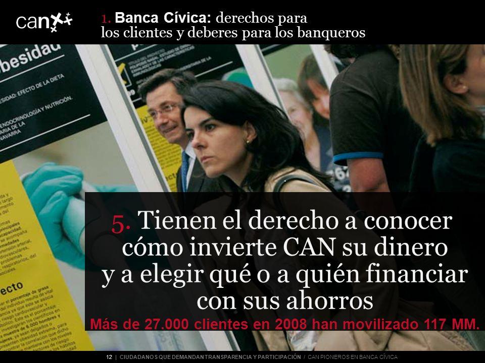 12 | CIUDADANOS QUE DEMANDAN TRANSPARENCIA Y PARTICIPACIÓN / CAN PIONEROS EN BANCA CÍVICA 4.