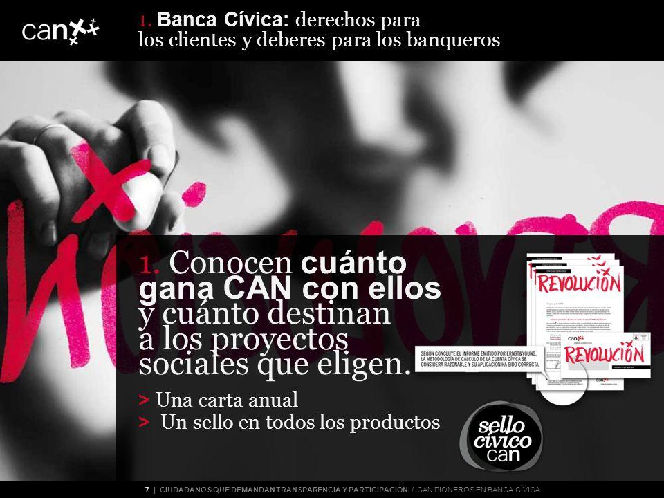 7 | CIUDADANOS QUE DEMANDAN TRANSPARENCIA Y PARTICIPACIÓN / CAN PIONEROS EN BANCA CÍVICA 1.