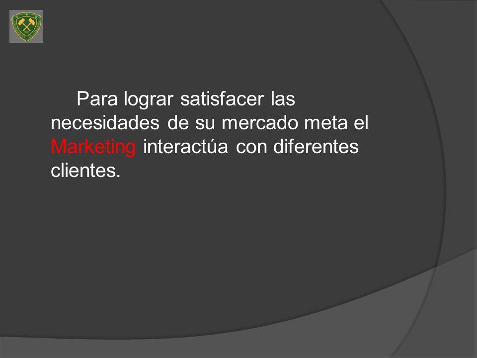 Clientes externos Mercado meta: clientes a los que van destinados los productos de la empresa.