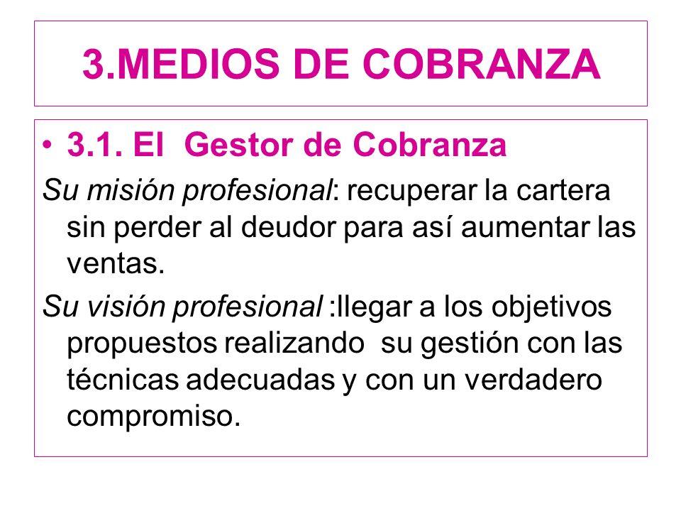 3.MEDIOS DE COBRANZA 3.1.