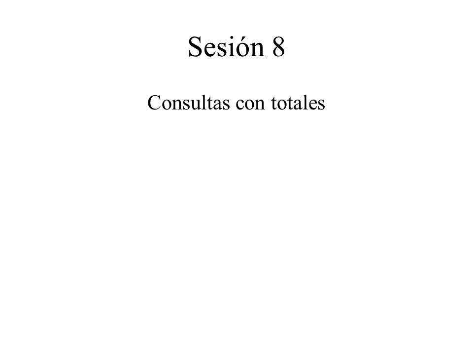 Sesión 8 Consultas con totales