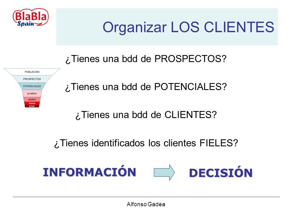 Alfonso Gadea Organizar LOS CLIENTES ¿Tienes una bdd de PROSPECTOS.