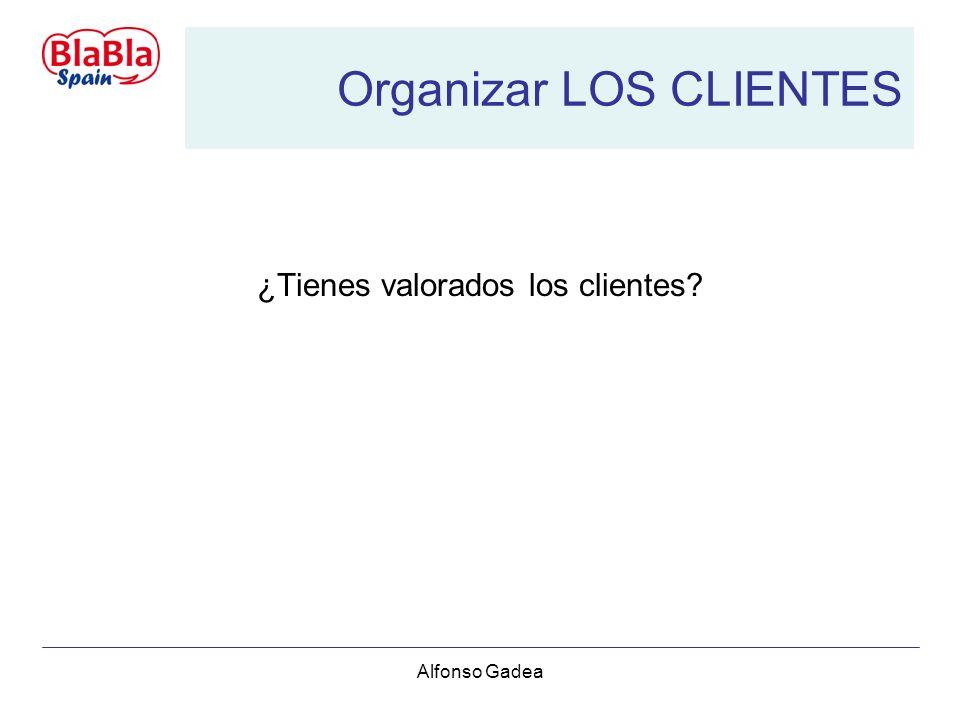 Alfonso Gadea Organizar LOS CLIENTES ¿Tienes valorados los clientes