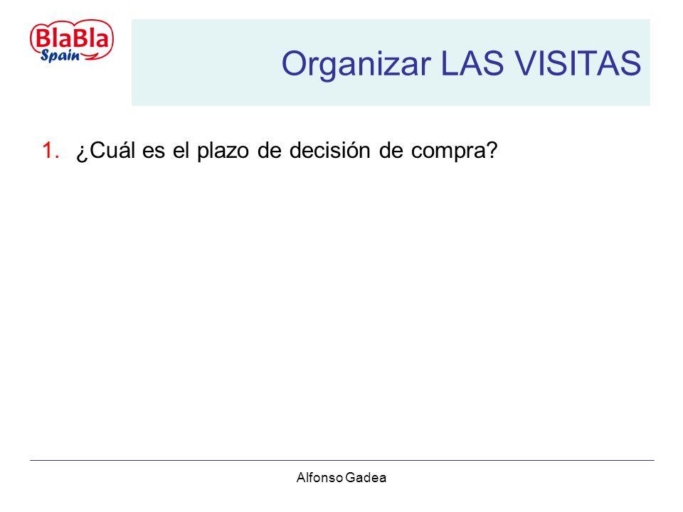 Alfonso Gadea Organizar LAS VISITAS 1.¿Cuál es el plazo de decisión de compra