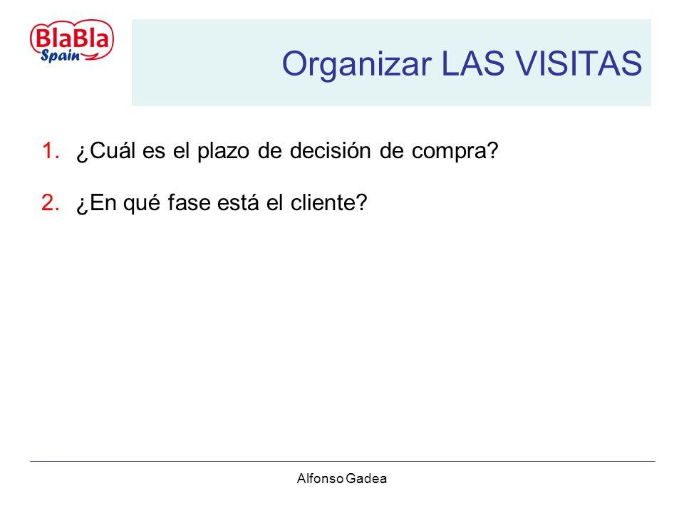Alfonso Gadea Organizar LAS VISITAS 1.¿Cuál es el plazo de decisión de compra.
