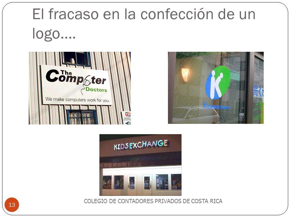 El fracaso en la confección de un logo…. COLEGIO DE CONTADORES PRIVADOS DE COSTA RICA 13