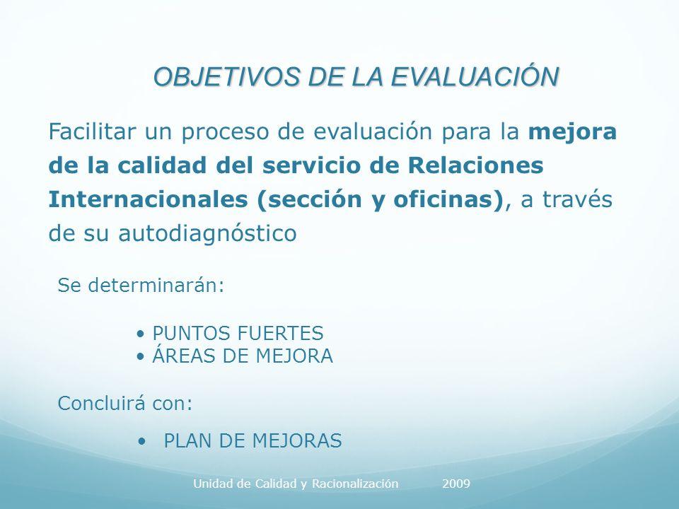 EVALUACIÓN DE SERVICIOS Universidad de Zaragoza CRITERIO 1: LIDERAZGO Valora si el comportamiento y actuaciones del equipo directivo apoyan y fomentan una cultura de Calidad Total.