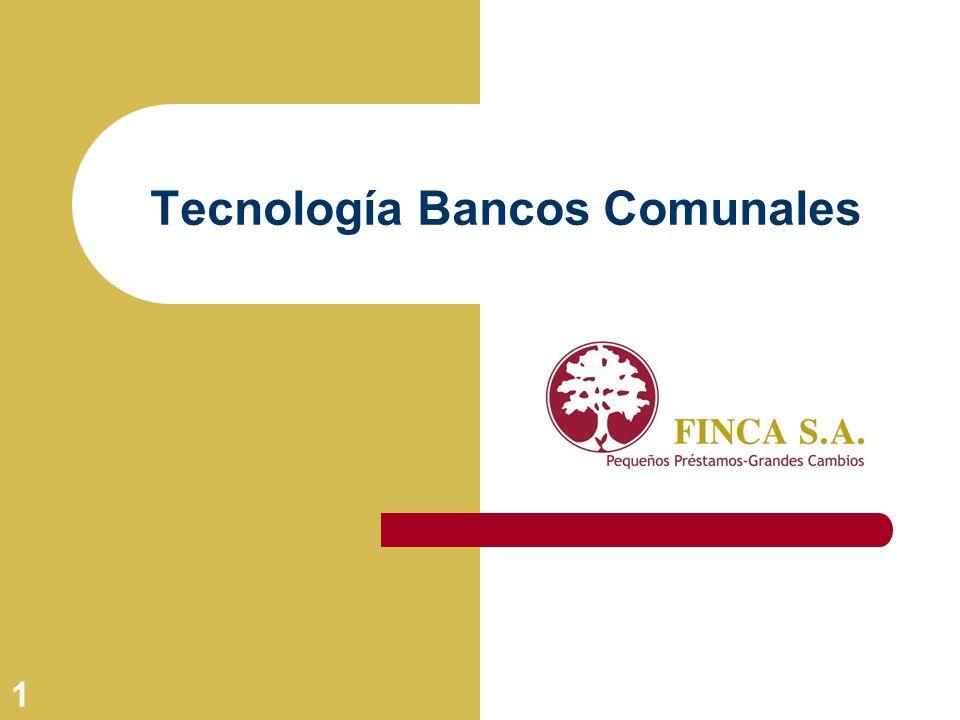 1 Tecnología Bancos Comunales