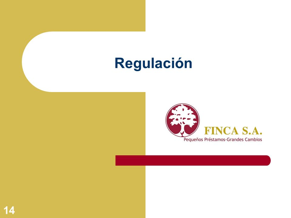 14 Regulación