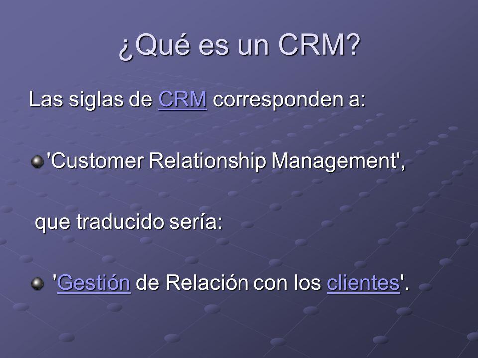 ¿Qué es un CRM.