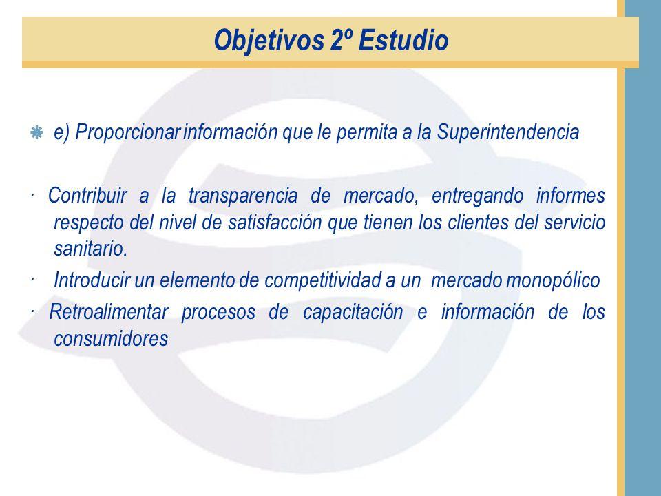 Objetivos 2º Estudio c) Aplicar de forma estricta la metodología planteada en 6 empresas sanitarias del país. A saber, Essan (II Región), Essco (IV Re