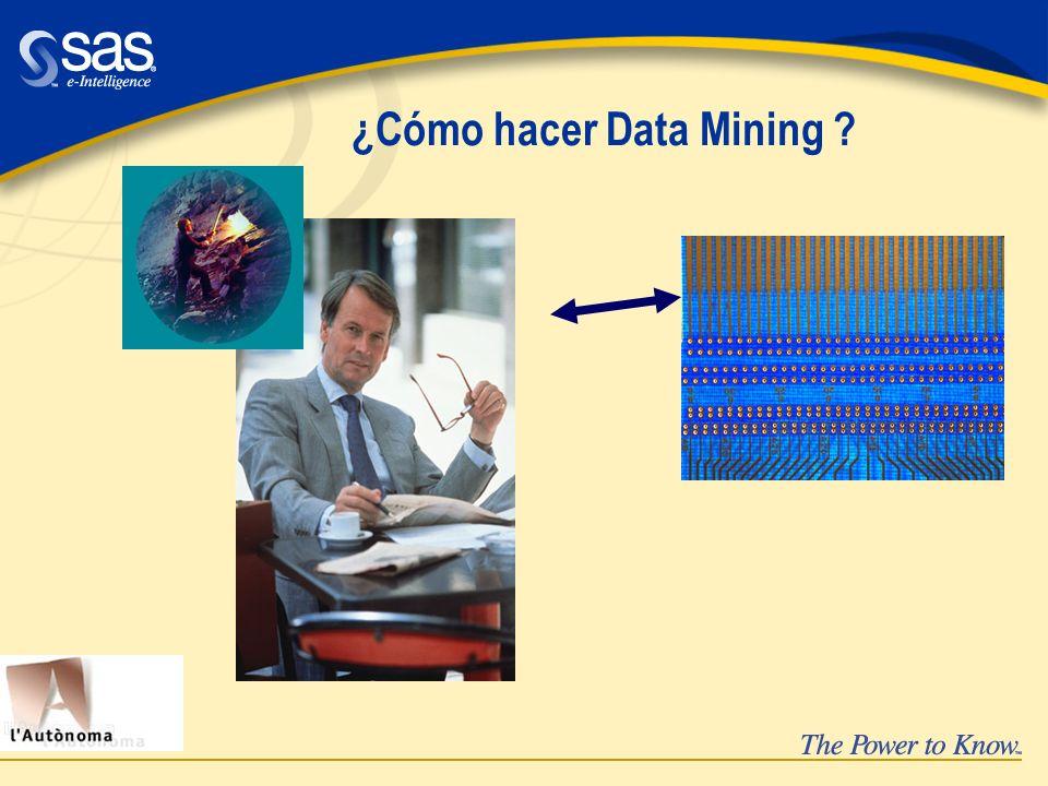 ¿Cómo hacer Data Mining ?