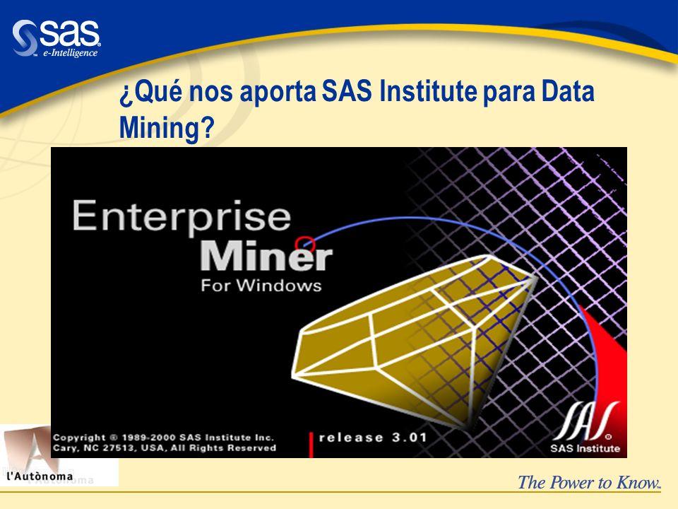 ¿Qué nos aporta SAS Institute para Data Mining?