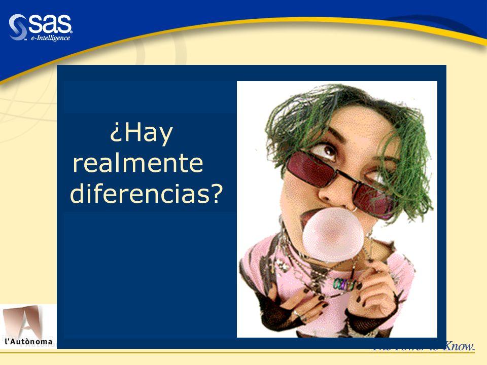 ¿Hay realmente diferencias?