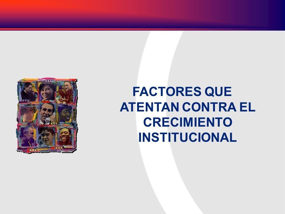 FACTORES QUE ATENTAN CONTRA EL CRECIMIENTO INSTITUCIONAL