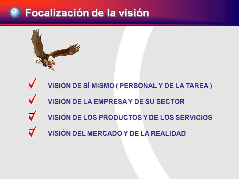 VISIÓN DE SÍ MISMO ( PERSONAL Y DE LA TAREA ) VISIÓN DE LA EMPRESA Y DE SU SECTOR VISIÓN DE LOS PRODUCTOS Y DE LOS SERVICIOS VISIÓN DEL MERCADO Y DE L