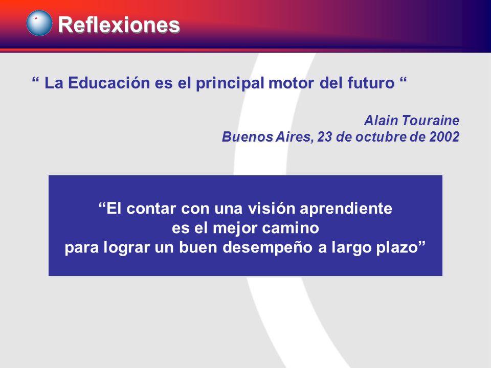 La Educación es el principal motor del futuro Alain Touraine Buenos Aires, 23 de octubre de 2002 La Educación es el principal motor del futuro Alain T