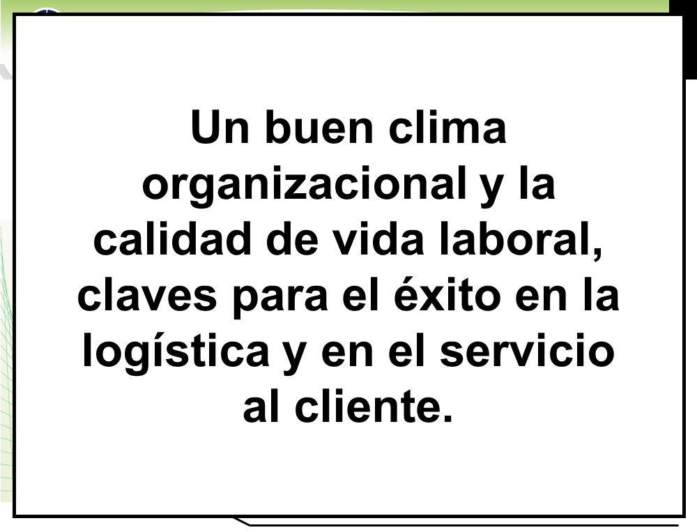 www.highlogistics.com logistics@epm.net.co Un buen clima organizacional y la calidad de vida laboral, claves para el éxito en la logística y en el ser